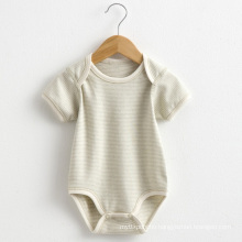 Summer Striped Short Sleeves Baby Romper