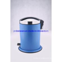 Lixeira de aço inoxidável com pedal de pé, lata de lixo, lata de lixo