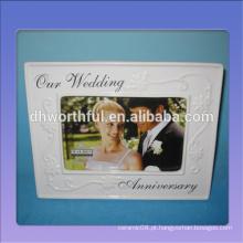 Frames de cerâmica brancos do casamento do projeto especial com logotipo personalizado