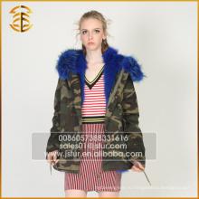 Новый стиль Custom Дешевые куртка енота выстроились зимой Fur Parka