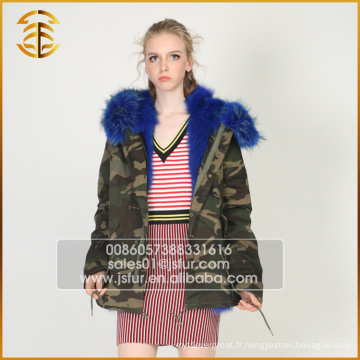 New Style Custom Cheap Raccoon Jacket Fourré fourrure en fourrure Parka