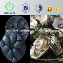 Austraila Market Popular 31 * 29cm Aspiradora negra que forma la bandeja plástica del compartimiento de la comida para la ostra en restaurante