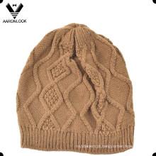 Acrílico Crochet Padrão Winter Kids Cap