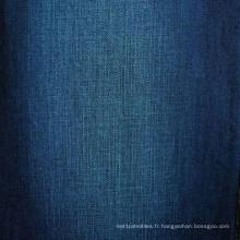 Tissu en denim tricoté 100% coton et élasthanne