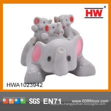 2015 Горячая продажа смешно мягкий слон резиновые игрушки