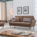 Brown Fabric Armrest Upholstered Lounge Sofa Set
