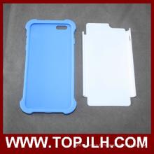 3D PC + Sublimation blanc téléphone TPU pour iPhone 6/6 s Plus