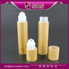 Bamboo Packaging And plastic deodorant roll on bottle for care and roll on perfume bottle