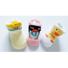 Soem-Gummisohle Anti-Beleg gute Qualität neue geborene Karikatur 3 d-Baby-Socken