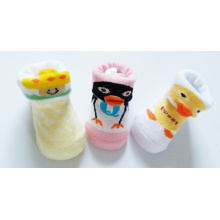 OEM Rubber Sole Anti - Slip Good Quality New Born Cartoon 3 D Baby Socks