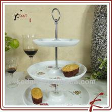 3 corbatas Soporte de la torta de cerámica