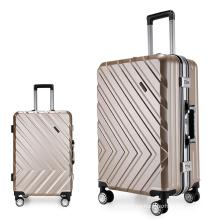 ABS PC aluminum frame luggage set of 3