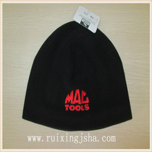 Men fashion embroidery polar fleece hat