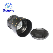 Black 85mm f/1.8 Portrait Lens For Nikon DSLR Camera Lenses