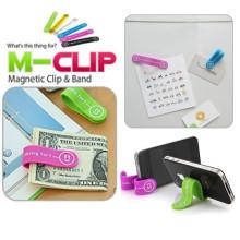 Grampo e faixa magnéticos de silicone multifunction para a estante do fone de ouvido do telefone móvel / bobina / cabletwister / laço de cabo