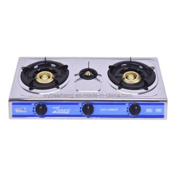 Popular Gas Stove, Threes Burners, Stainless Steel