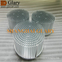 "150mm round pin fin led cooler, 5.9"" cold forging led heatsinks"