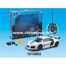 Brinquedos de controle remoto de plástico para carros 4-CH R / C Car (1010502)