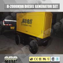 Gerador de diesel móvel de reboque de 125kVA com motor refrigerado a água Sdg138wst