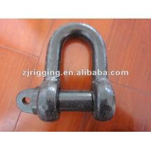 Grillete de hierro fundido de tipo D con el perno de tornillo