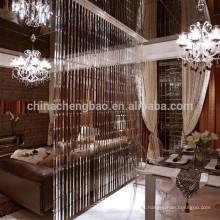 Cortina hecha a mano cristalina caliente del grano de la cortina del salón