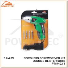 Destornillador sin cuerda de doble punta Blister 6 de 6,6 / 4.8V Powertec (PT87402)
