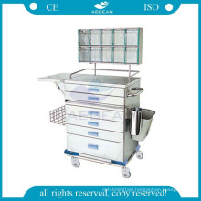 AG-AT015 approved 304 stainless steel hospital anaesthesia medical trolley