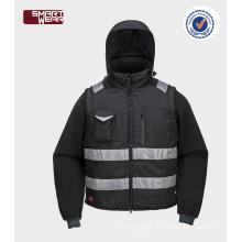 Hohe Qualität billig Großhandel Herren Sicherheit Pilot Jacke mit reflektierenden Band