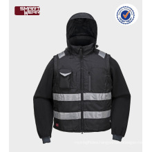 High quality cheap wholesale mens safety pilot jacket with reflective tape