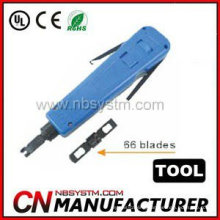 Punch Down Tool. A: with 110 blades. B: with 110&66 blades