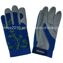 Synethic Leather Palm Spandex Man Garden Working Gloves