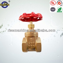 brass body brass spool red wheelhand gate valve