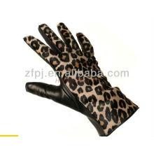 Luvas de couro da senhora da forma luvas do leopardo