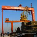 portique de construction navale avec pneu en caoutchouc