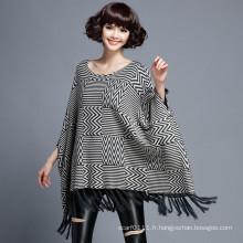 Femmes mode chevrons en nylon tricoté hiver châle (YKY4526)