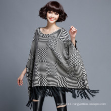 Women Fashion Herringbone Cotton Nylon Knitted Winter Shawl (YKY4526)