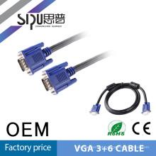 SIPU todos os tipos de alta velocidade rede fabricante personalizado até 100 metros Vga cabo 3 + 6