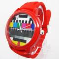 Quartz Big Face Fashion Silicone Watch