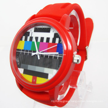 Quartz Big Face Fashion Silicone Watch