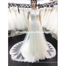 China Wedding Dress 2016 Sexy V-neck Beaded Backless Chapel Train Bridal Dresses Custom Made Y3-1-5