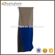 suministro de fábrica de invierno bufanda lisa de cachemira puro de punto 100% casquillo bufanda de tres colores patrón