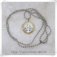 Religious Necklace, Religious Items, Pendant Chain Jewelry Religious Style Necklace (IO-aj354)