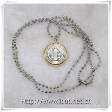 Religious Necklace, Religious Items, Pendant Chain Jewelry Religious Style Necklace (IO-aj354)