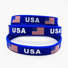 American Flag  Socer  Silicone Wristbands