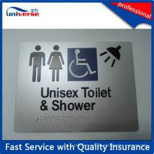 Nach Maß Toilettenschild für Plastik Braille Schilder