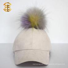 Vente en gros Chapeau en suède de baseball de fourrure en Chine pour femme