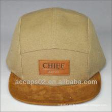 Sombrero del panel del remiendo 5 del cuero