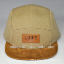 leather patch 5 panel hat
