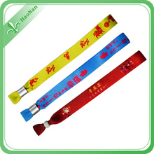 Hot Sale Sublimated Printing Beautiful Wristband with Lock