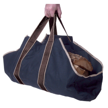 Eldstad Handskar Canvas Log Tote Bellow Coal Hod